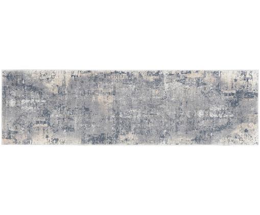 Läufer Rustic Textures, Graublau, Elfenbeinfarben