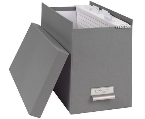 Hängeregister-Box Johan, 9-tlg., Organizer außen: HellgrauOrganizer innen: Weiß