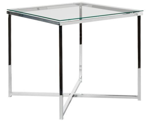 Tavolino Matheo, Metallo, cromato