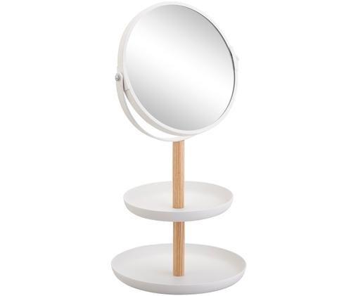 Specchio cosmetico Tosca con ingrandimento, Bianco, marrone