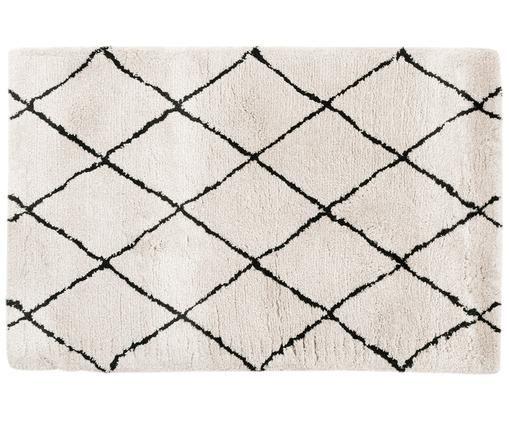 Ręcznie tuftowany dywan Naima, Beżowy, czarny