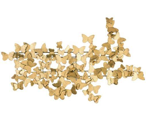 Décoration murale Butterfly, Couleur dorée