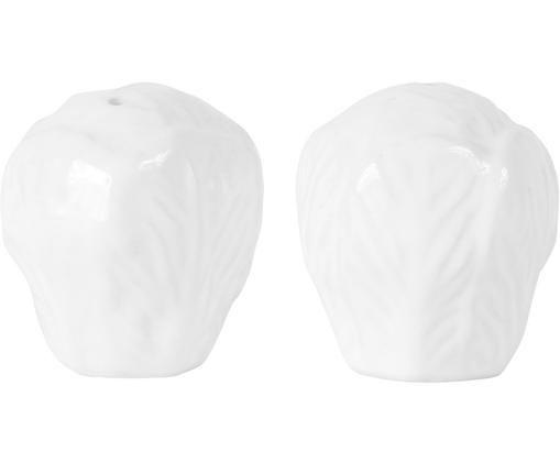 Komplet solniczki i pieprzniczki Saliere, 2 elem., Biały