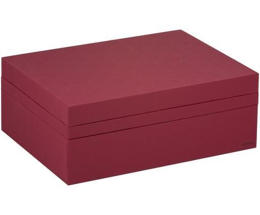 Set scatole custodia Tray Box, 3 pz., Rosso scuro