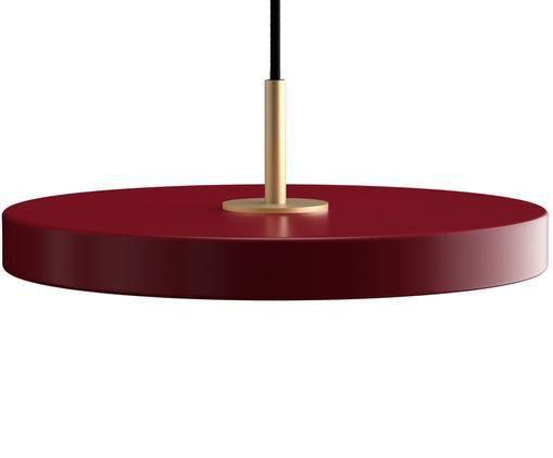Lampada a sospensione a LED di design Asteria, Rosso