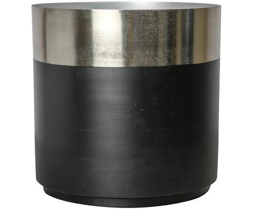 Porta vaso Aria, Nero, argento
