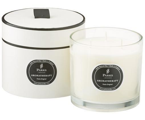 Bougie parfumée à trois mèches Parks Original(vanille et agrumes), Transparent, blanc, noir
