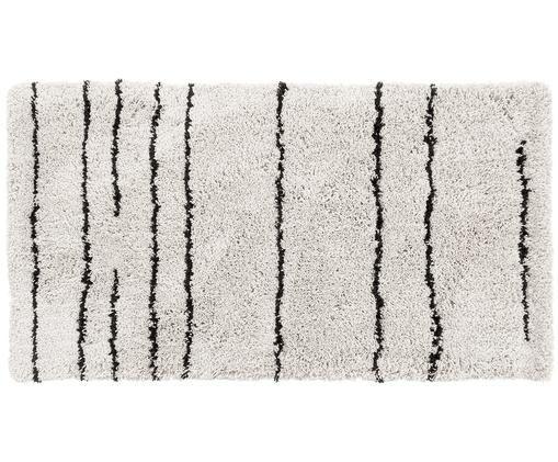 Ručně všívaný koberec Dunya, Béžová, černá
