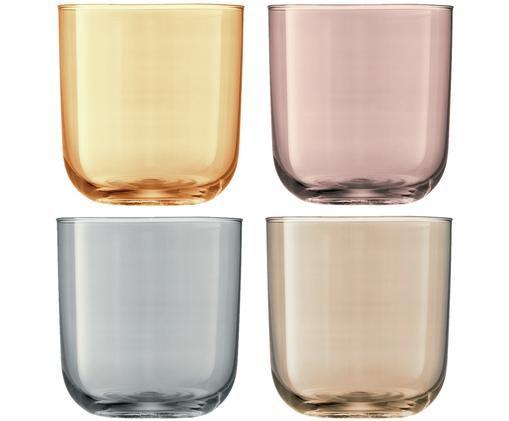 Ensemble de verres à eau Polka, 4élém., Jaune, marron, gris, brun