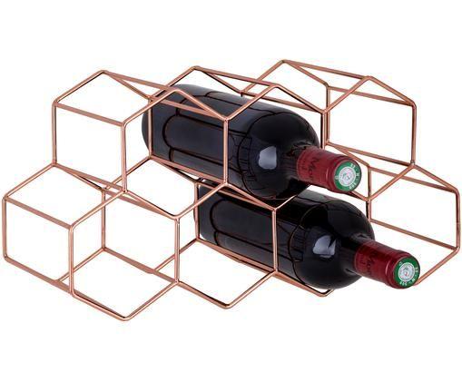Weinregal Hexagon, Kupfer