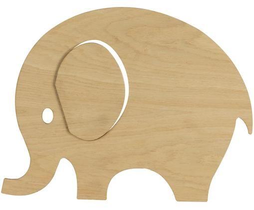 Wandleuchte Elefant mit Stecker, Braun