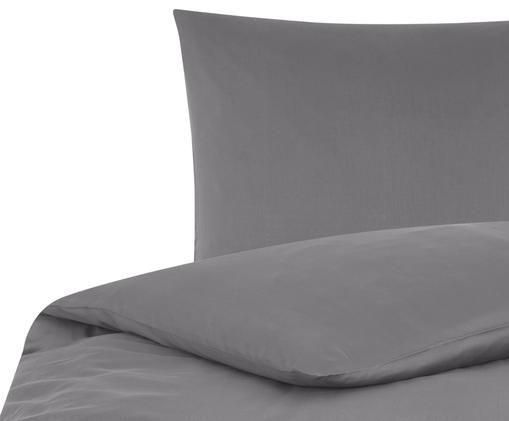 Baumwollsatin-Bettwäsche Comfort, Dunkelgrau