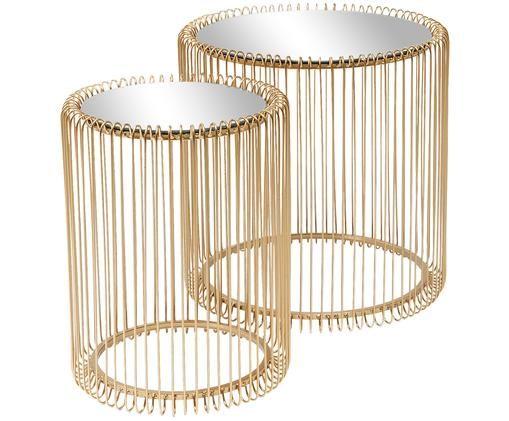 Set tavolini Wire, 2 pz., Ottone