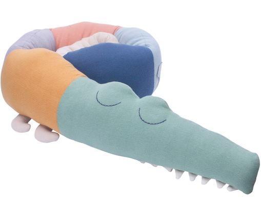 Großes Kuscheltier Sleepy Croc aus Bio-Baumwolle, Mehrfarbig