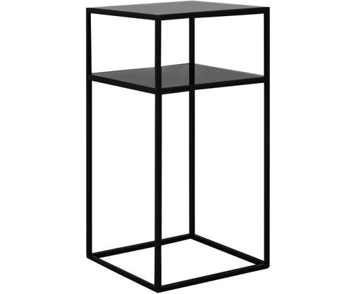 Metall-Beistelltisch Tensio Oli in Schwarz, Schwarz