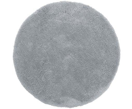 Flauschiger runder Hochflor-Teppich Leighton in Grau, Grau
