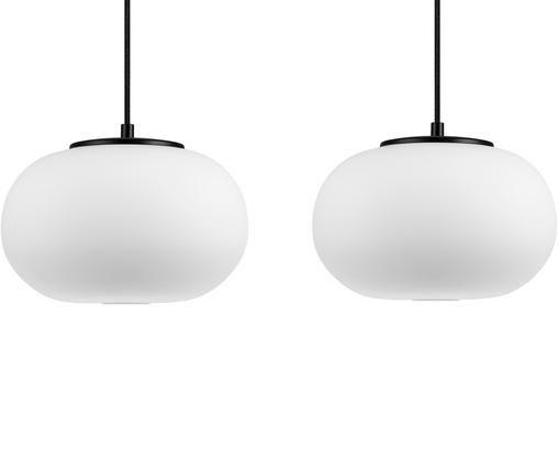 Lámpara de techo Dosei Double, Blanco, negro
