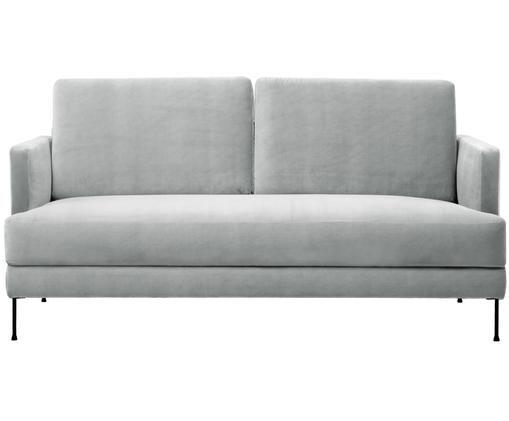 Samt-Sofa Fluente (2-Sitzer), Hellgrau, Samt