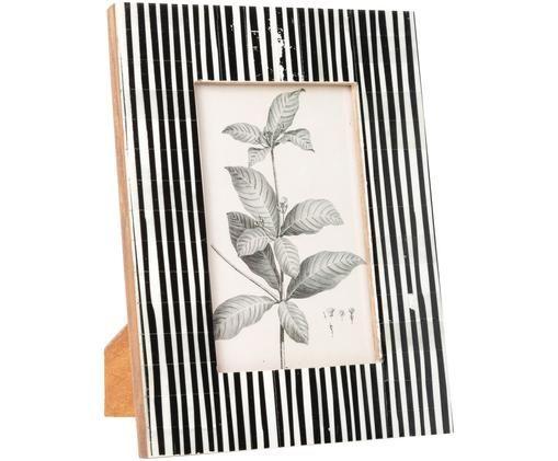 Ramka na zdjęcia Stripe, Czarny, biały