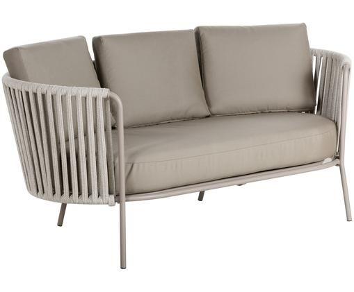 Sofa ogrodowa Sunderland (2-osobowa), Taupe, jasny taupe