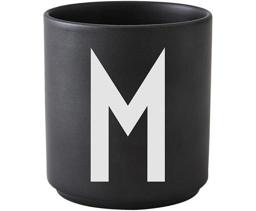 Mug M, Noir mat, blanc