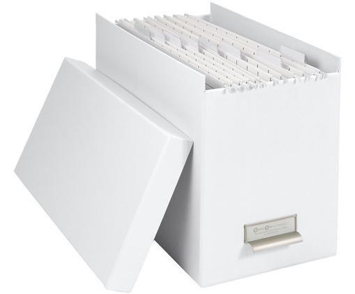 Scatola-archivio per documenti Johan, 9 pz., Organizzatore esterno: bianco organizzatore interno: bianco