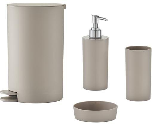 Komplet akcesoriów łazienkowych Maxim, 4 elem., Taupe