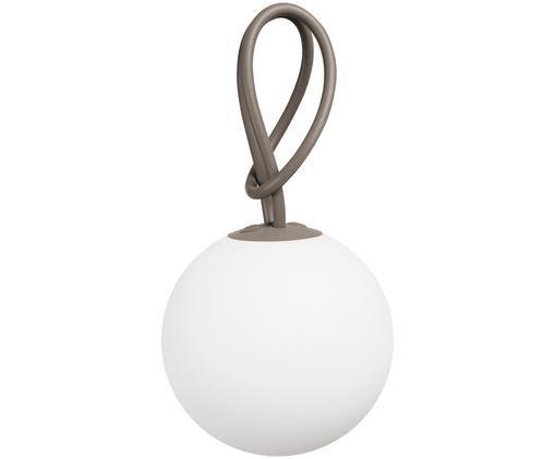 Mobile LED Außenleuchte Bolleke, Weiß, Taupe