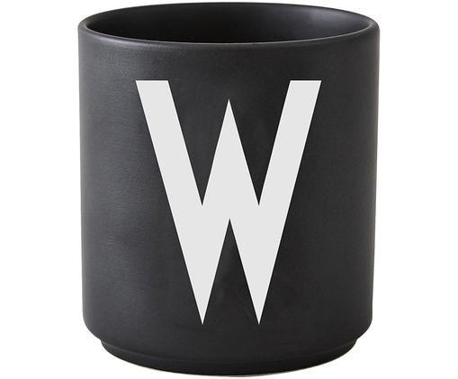 Becher W, Schwarz matt, Weiß