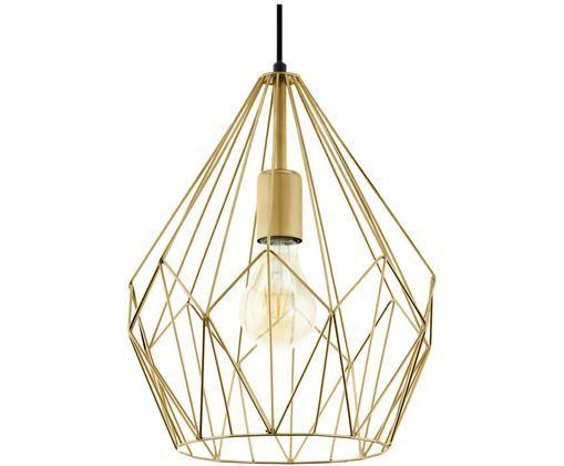 Hanglamp Carlton, Goudkleurig