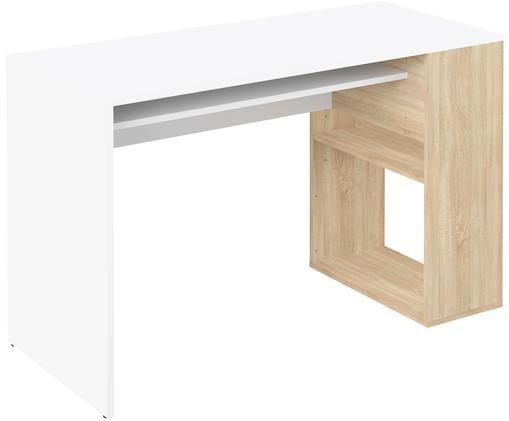Biurko Yale, Biały, drewno dębowe