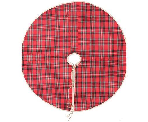 Falda para pie de árbol Escocesa, Rojo, natural