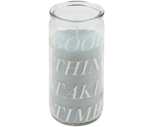 Kerze Good Things, Transparent, Mintfarben