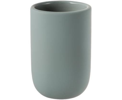 Keramik-Zahnputzbecher Lotus, Grün