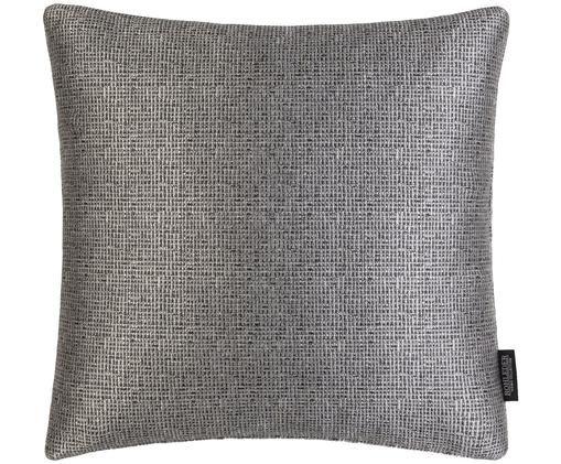 Kissenhülle Move, glänzend, Vorder- und Rückseite: Grau