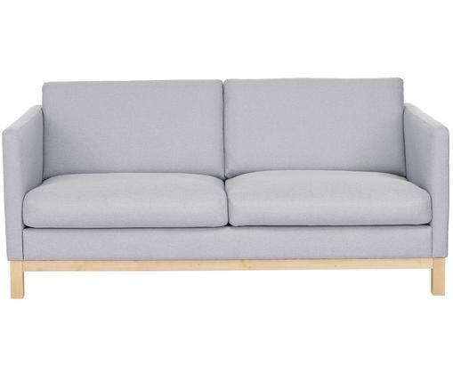 Divano Lian (2 posti), Rivestimento: grigio chiaroPiedi: legno di betulla
