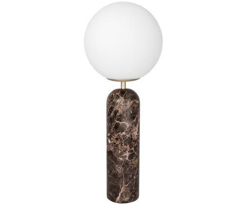 Lampada da tavolo Toranno, Marrone, bianco