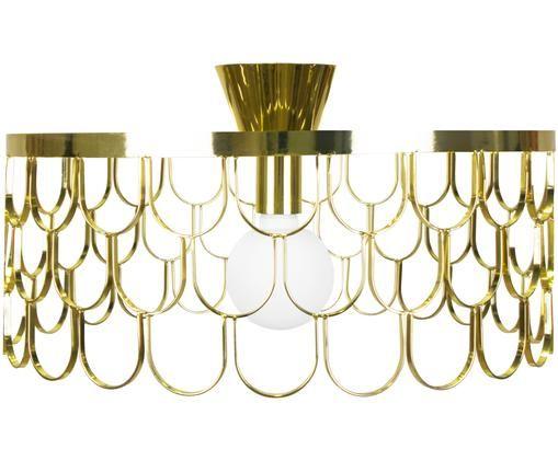 Plafondlamp Gatsby, Messingkleurig