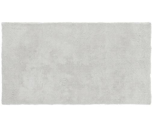 Pluizig hoogpolig vloerkleed Leighton in lichtgrijs, Lichtgrijs