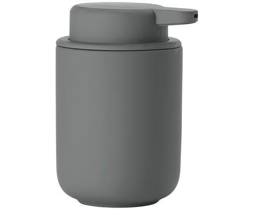 Seifenspender Ume aus Steingut, Grau, matt