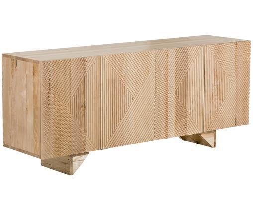Sideboard Louis aus Massivholz, Eschenholz