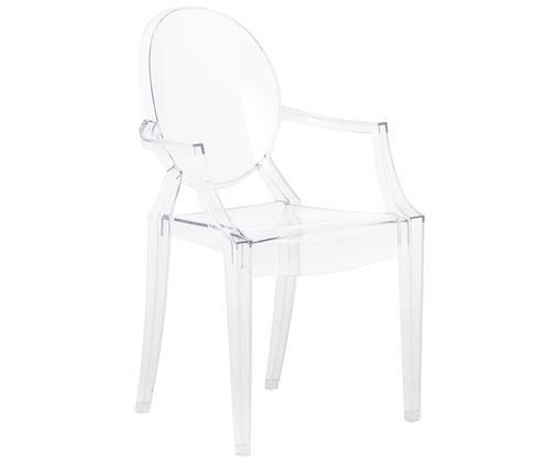 Chaise à accoudoirs Louis Ghost, Transparent