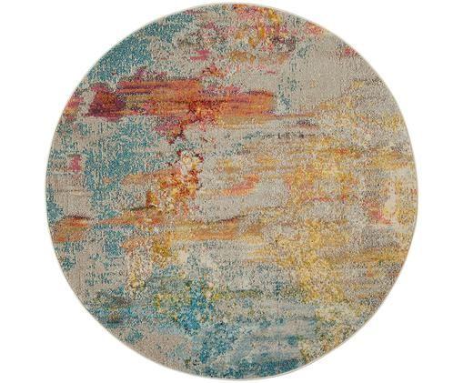 Tappeto rotondo di design Celestial a colori, Multicolore