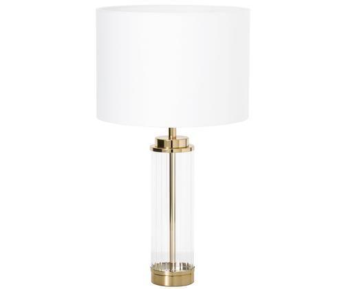 Tafellamp Gabor, Lampenkap: crèmekleurig. Lampvoet: goudkleurig