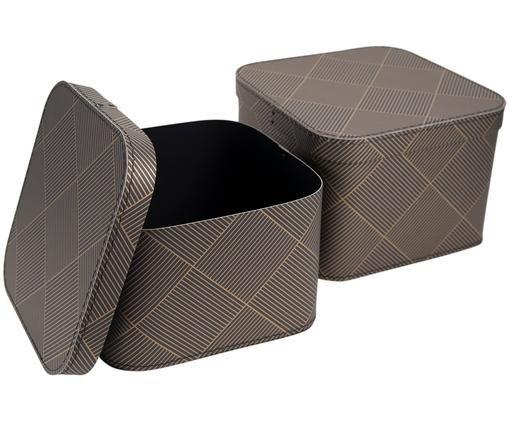 Set scatole custodia Ludvig, 2 pz., Dorato, grigio scuro
