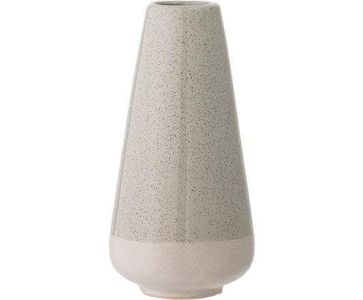 Vase Dienato aus Steingut, Weiß, Grau