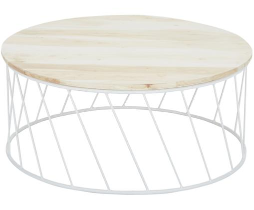 Couchtisch Emma im Skandi Design, Akazie, Weiß
