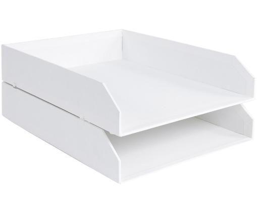 Vassoio per documenti Hakan, 2 pz., Bianco