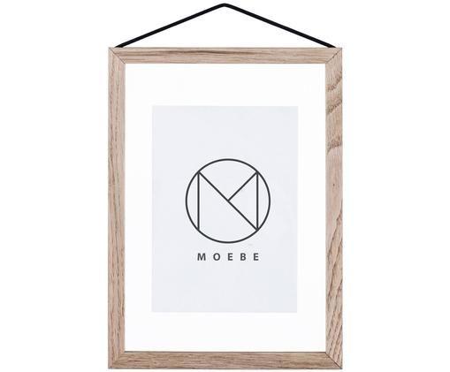 Fotolijst Frame, Frame: Eiken Ophanging: Zwart Voorkant en achterkant: Transparant