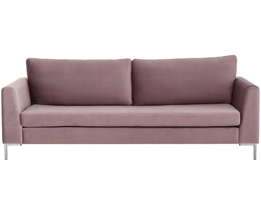 Samt-Sofa Luna (3-Sitzer), Altrosa